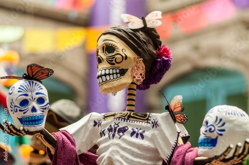 catrinas calaveras dia de muertos halloween mexico tradiciones Wallpaper Mural