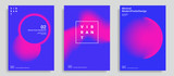 Set of trendy abstract design template