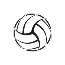 Volleyball Abstract Symbol