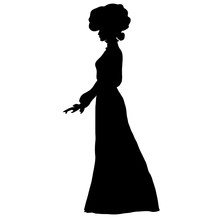 Female Slim Silhouette In Long...