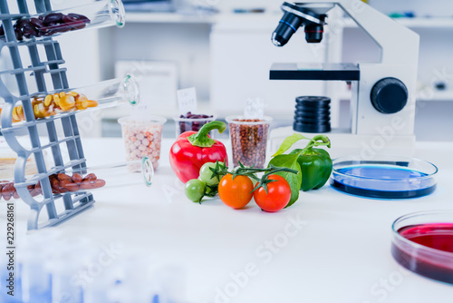 Chemical Laboratory of the Food supply   Food in laboratory, dna