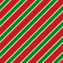 Seamless Christmas Stripe Pattern