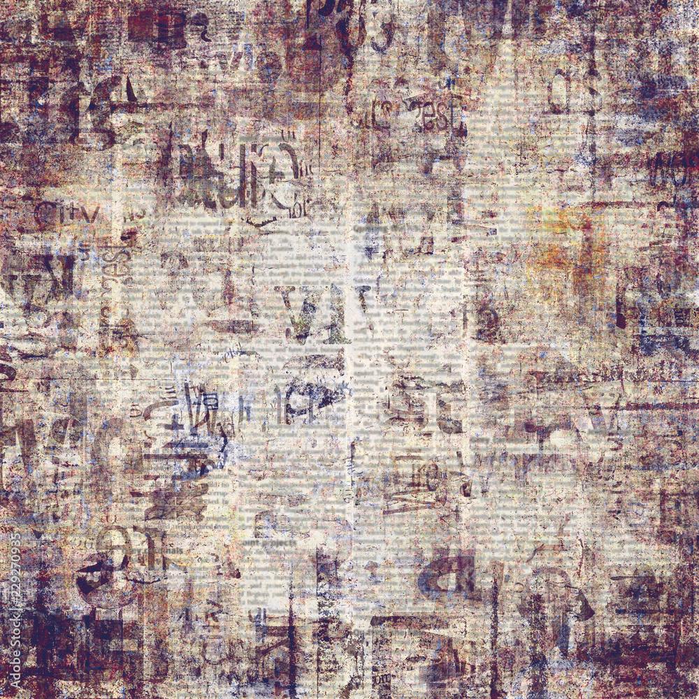 Fotografie Obraz Old Vintage Grunge Newspaper Paper Texture