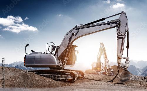 Fotografia excavators at work