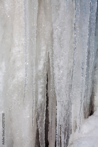 natural icicles background