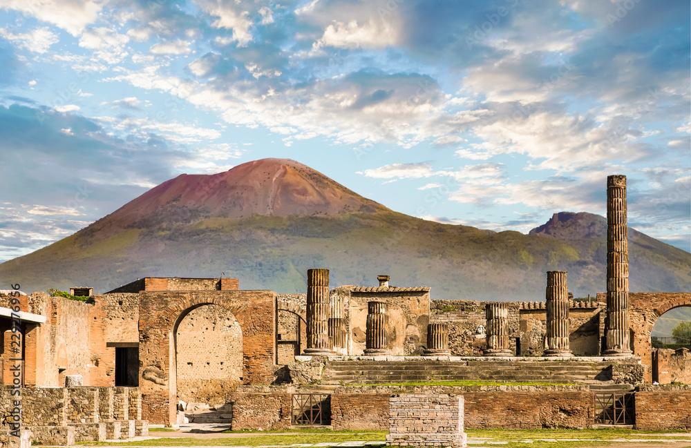 Fototapety, obrazy: Vesuvius and Pompeii