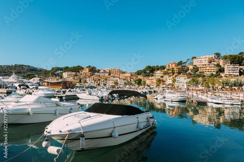 Spoed Foto op Canvas Mediterraans Europa Soller Village, Majorca, Spain