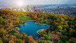 canvas print picture - Montreal autumn season coulors