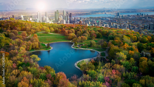 Montreal autumn season coulors Wallpaper Mural