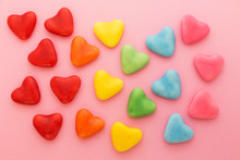 Multi-colored Heart-shaped Can...