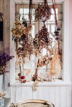 Dry Plants Decoration On Window