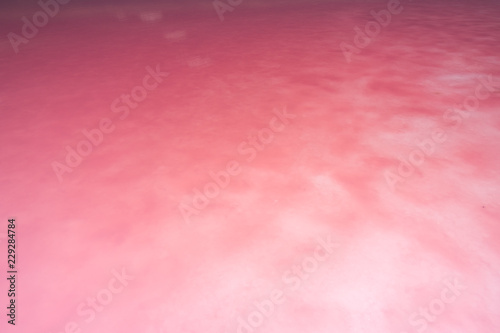 Natural pink salt lake in Australia