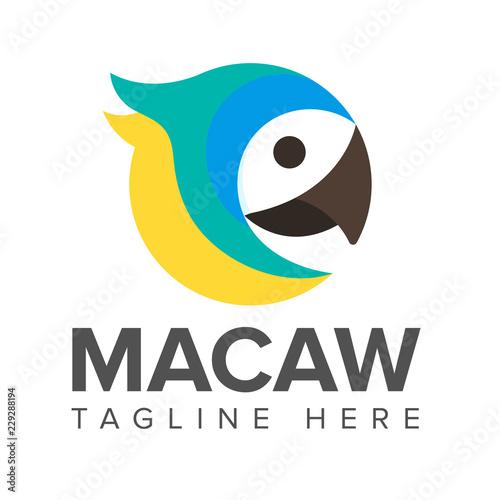 macaw bird parrot logo Fotomurales
