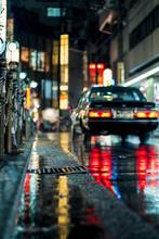 Night Street Color In Osaka