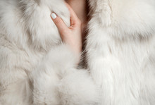 White Fur Coat Closeup