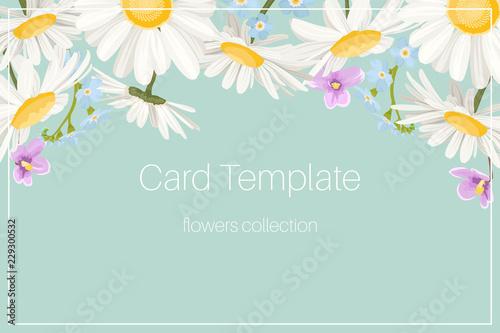 Wedding event invitation card template Tableau sur Toile
