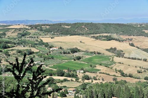 Toskanische Landschaft südlich von Pienza, Toskana, Italien, Europa, ÖffentlicherGrund, Europa