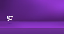 Vector,Empty Vivid Purple Color Studio Table Room Background ,product Display With Copy Space For Display Of Content Design.Banner For Advertise Product On Website.