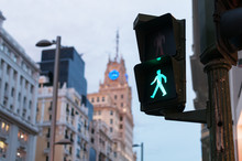 Glowing Crosswalk Semaphore On...