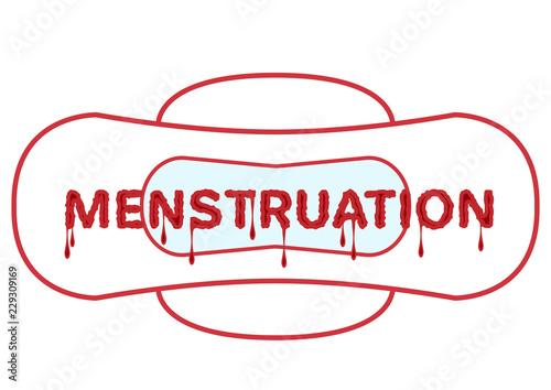 Photo Vector illustration of menstrual bleeding period