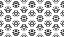Abstract Geometric Pattern With Lines, Snowflakes. A Seamless Vector Background. White And Black Texture. Graphic Modern Pattern