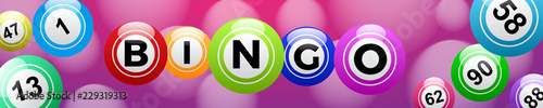 Bingo lottery, header background vector design, lucky balls and numbers of lotto Wallpaper Mural