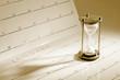 Leinwandbild Motiv Houseglass on Calendar