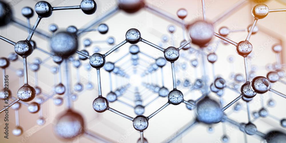 Fototapety, obrazy: Transparente Molekülstruktur - Nanotechnologie