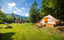 Family Tent In Adrenaline Check Eco Resort In Slovenia.