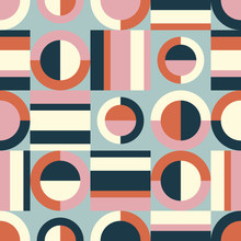 Seamless Retro Pattern With Ge...