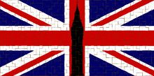 Union Flag With Big Ben Tiled