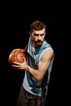 Man Running With Basketball