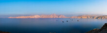 Panorama Of Sunset Over Fjords...