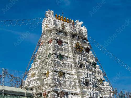 Wall Murals Place of worship Balaji temple at Tirumala hill. The most visited place of Hindu pilgrimage. Sri Venkateswara Swamy Vaari Temple, Tirumala, Tirupati.