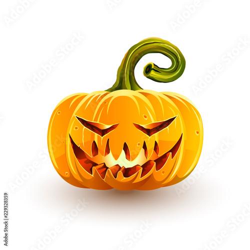 Fotografía  Glowing sinister Halloween pumpkin