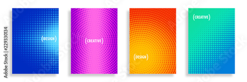 obraz lub plakat Vector Abstract Half-Tone Backgrounds