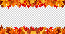 Autumn Leaves  Border Frame Wi...