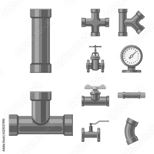 Fotomural Vector illustration of pipe and tube icon