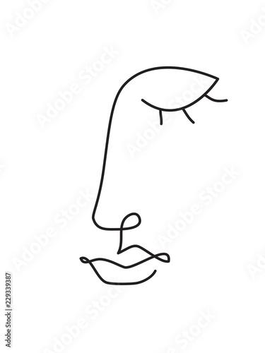 grafika-liniowa-twarzy