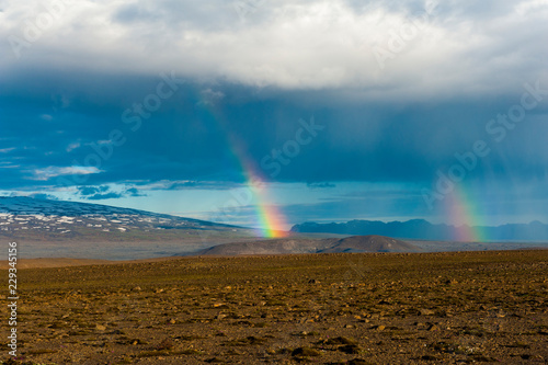 Mountains on Iceland during storm