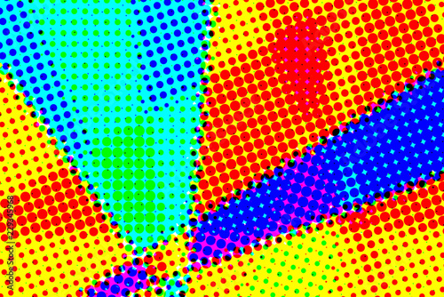 Poster Pop Art Abstract halftone artistic background