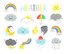 Cute Weather. Cartoon Weathers...