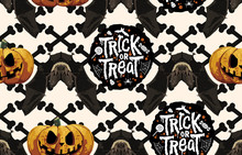 Halloween Seamless Pattern. Di...