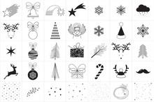 Minimal Vector Christmas Icons