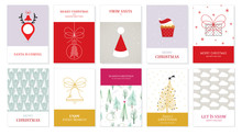 Vector Christmas Greeting Cards 3