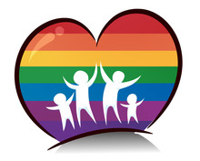 Rainbow Heart Family Illustrat...