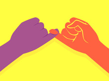 Hands Pinky Promise Illustration