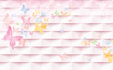 3d Illustration - Pink Tiles A...