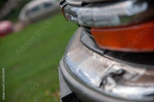Fotografie, Obraz  Wohnmobil auto pkw stoßstange alt oldtimer mit rost
