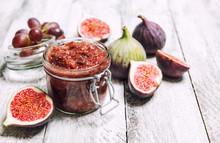 Figs Jam In Jar Fruit Marmalad...